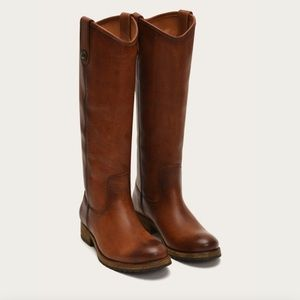 Frye Melissa Brown Button Boot